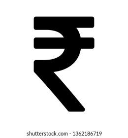Indian rupee icon symbol isolated on white background. Vector money illustration .