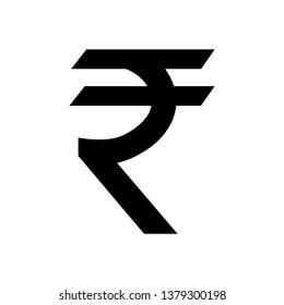 Indian rupee icon symbol isolated on white background. Vector money illustration.