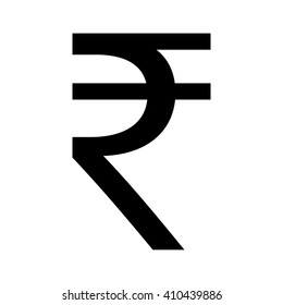 Indian Rupee icon vector symbol sign button black white INR Money