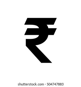 Indian Rupee icon vector symbol, Indian currency symbol