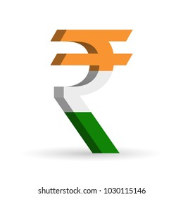 Indian rupee (INR) currency symbol with flag