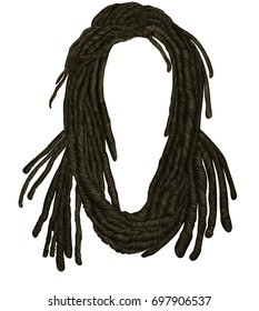Indian sadhu hairstyle .Hair dreadlocks.funny avatar.