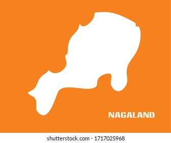 Indian State Vector with Orange Background