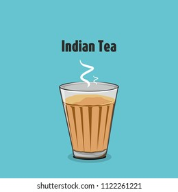 indian street masala tea vector