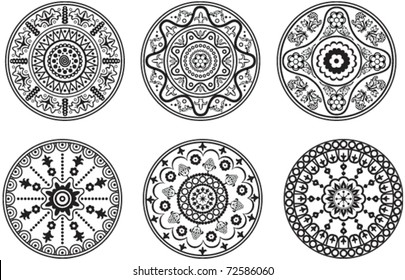 Indian style floral ornament