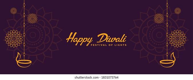 indian style happy diwali decorative banner design