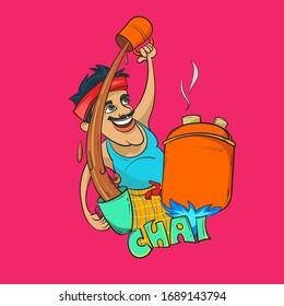 Indian tea maker vector illustration