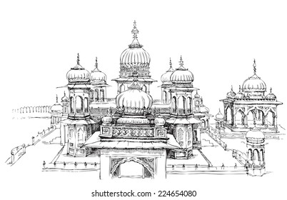 Indian Temple Vector Billeder Lagerfotos Og Vektorer Shutterstock
