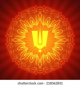 Indian Tilak Sign with Decorative Ornament (Indian God  Tilak Sign)