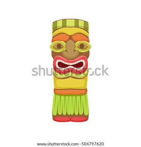 Indian Totem Hawaiian Vacation Classic Symbol Vector de stock (libre ...