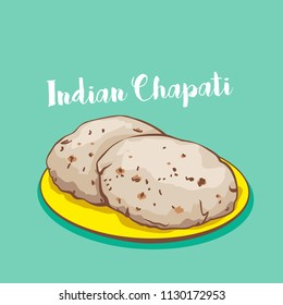 indian traditional chapati or roti