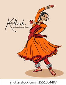 Indian traditional classical Kathak dance