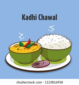 indian traditional cuisine kadhi chawal