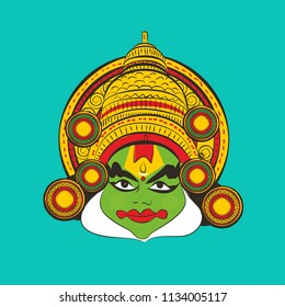 indian traditional dance kathakali vector