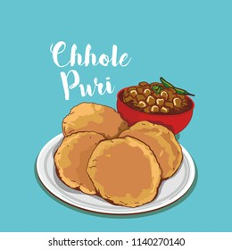 indian traditional food chhole puri