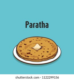 indian traditional food paratha