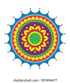 Indian Traditional Rangoli Design illustration