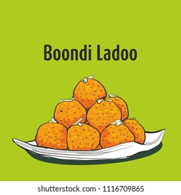 indian traditional sweets Boondi ladoo