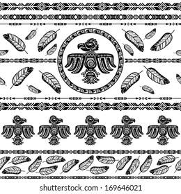 Indian tribal pattern background vector illustration