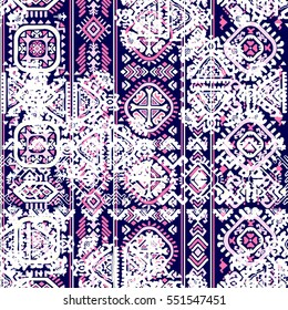 Indian tribal seamless pattern. Ethnic Mandala ornament. Vector Henna tattoo style. Can be used for textile, greeting card, coloring book, phone case print.