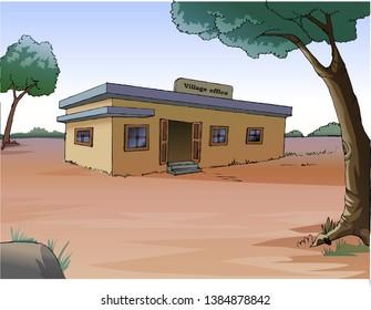 Indian Village Office Gram Panchyat Office