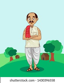 indian villages people cartoon character design .vector illustration