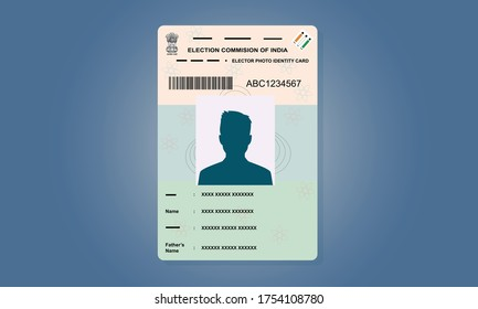 Indian Voter ID Card Vector