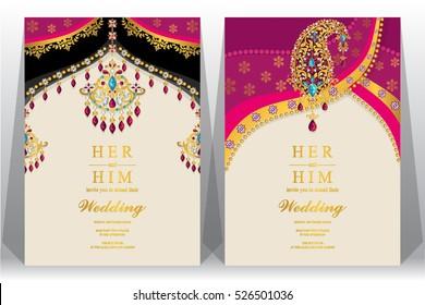 Indian Wedding Card Images Stock Photos Vectors