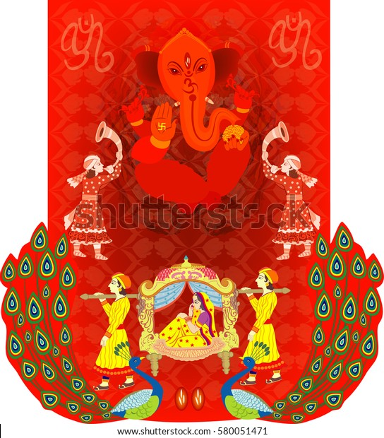 Indian Wedding Ceremony Indian Hindu Wedding Stock Vector Royalty Free 580051471