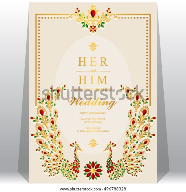 Indian Wedding Invitation Card Abstract Background | Backgrounds ...