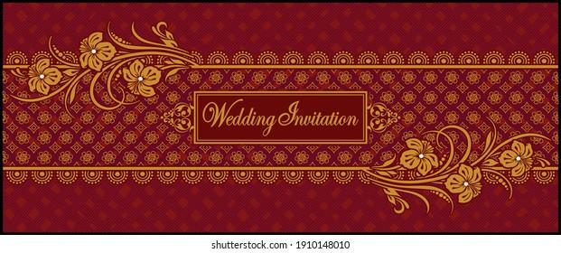 Hindu Wedding Invitation Card Images Stock Photos Vectors Shutterstock