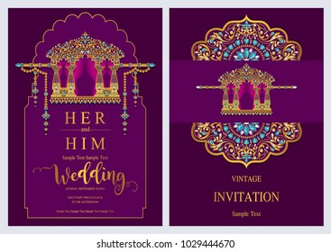 Indian Wedding Card Images Stock Photos Vectors