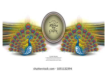 Hindu Wedding Invitation Card Stock Vectors Images Vector