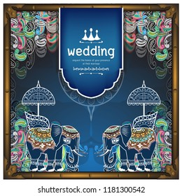 Indian wedding Invitation card templates Vintage wedding cards for you and the menu.