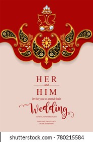Indian Wedding Invitation Images Stock Photos Vectors