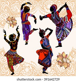Indian woman.Indian dancers