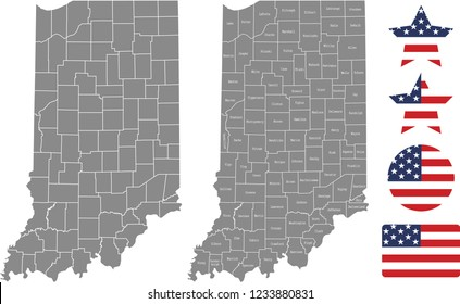 Indiana Map Images, Stock Photos & Vectors | Shutterstock