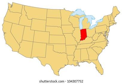 Indiana Locate Map