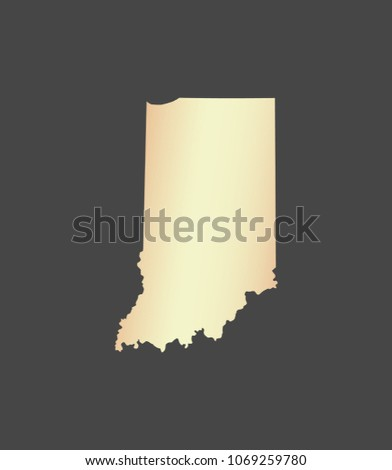 Indiana State USA Map Vector Outline Stock Vector (Royalty Free ...