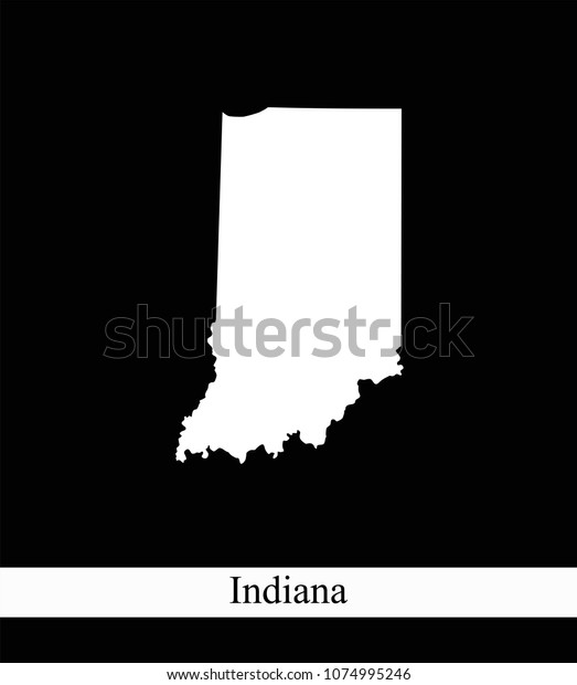 Indiana State Usa Map Vector Outline Stock Vector (Royalty ...