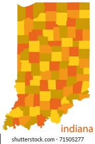 indiana state vector map