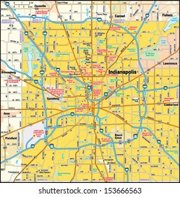 Indianapolis, Indiana area map