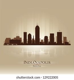 Indianapolis Indiana skyline city silhouette