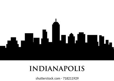 indianapolis skyline vector