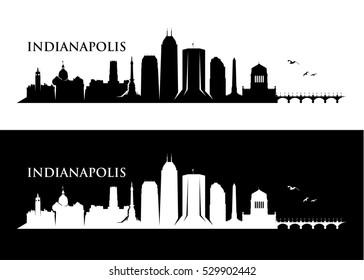 Indianapolis skyline - vector illustration