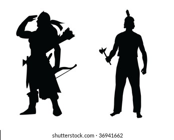 indians vector silhouette