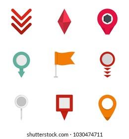 Indication icons set. flat set of 9 indication vector icons for web isolated on white background