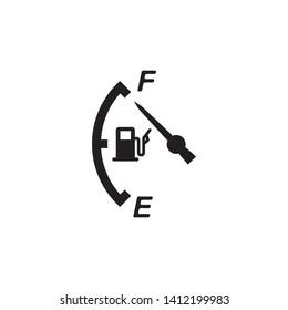 indicator fuel icon, logo design template