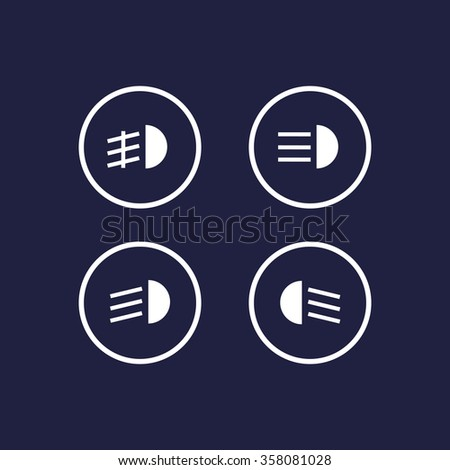 Indicator Lights On Car Dashboard Dipped Stock Vector Royalty Free
