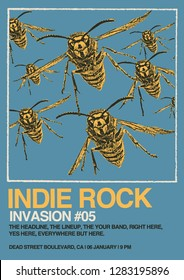 Indie Rock Gig Poster Flyer Template